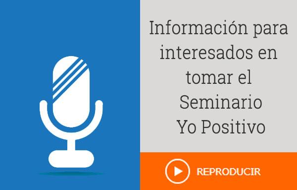 Audio con información sobre el seminario de superación personal