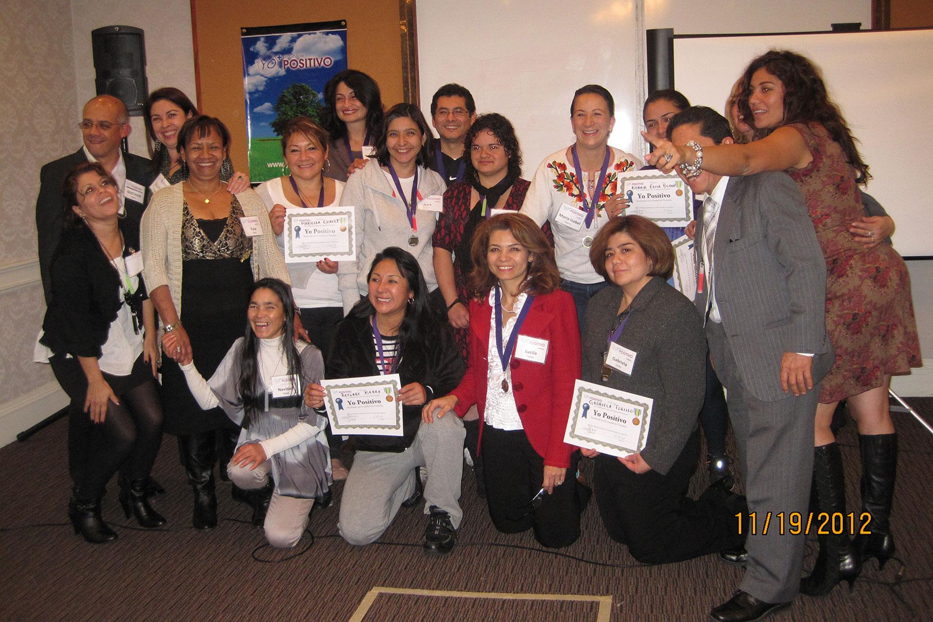 Graduados del Seminario Yo Positivo Serie 6 de Toronto